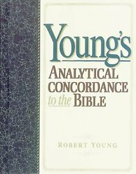 Young's Analytical Concordance To Bible By Young Robert Md - Hardcover Excellent