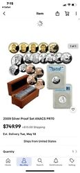 2009 United States 18-coin Proof Set Anacs Pr-70 Dcam