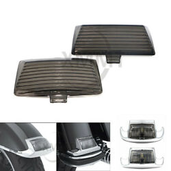 2pcs Abs Smoke Tip Mud Guard Light Len Cover For Harley Dyna Fxdli Fxd Fxdp