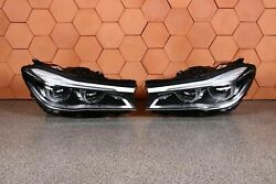 Bmw 7and039 G11 G12 Headlights Front Adaptive Led Right Left Lhd Set 10 Km