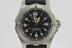 Breitling Colt Quartz 2 1 5/8in Menand039s Watch A74380 Steel Nice Condition Vintage