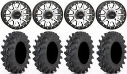 System 3 Sb-3 Machined 14 Wheels 30 Outback Max Tires Yamaha Grizzly Rhino