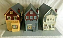 3 Large San Francisco Victorian Shops For Train Layout Unknown Scale