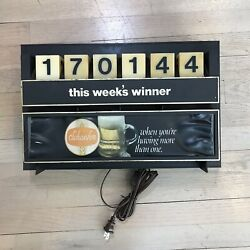 Vtg 70s Schaefer Beer Bar Electrical Sign Selectable Lottery Number New Wiring