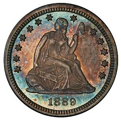 1889 25c Liberty Seated Quarter Pcgs Pr65 Cac