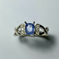 Natural Untreated Cornflower Blue Sapphire And Diamond 9ct 585 14k 18k Gold Ring