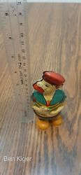 1930s J. Chein Barnacle Bill Walker The Sailor Mechanical Wind-up Tin Toy Japan