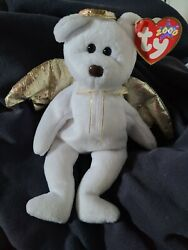 Ty Beanie Baby Rare Halo Ii With Brown Nose And Defect Tags