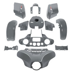Fairing Bodywork Kit Fit For Harley Cvo Street Glide 18 Gunship Gray Touring 14+