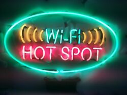 New Wifi Hot Spot Neon Sign 20x16 Light Lamp Store Wall Bar Collection St383