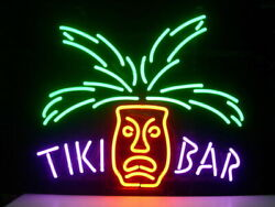 New Tiki Bar Totem Pole Neon Sign 20x16 Light Lamp Store Pub Collection St368