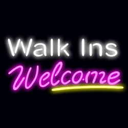 New Walk Ins Welcome Neon Sign 20x16 Light Lamp Store Wall Collection St372