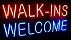 New Walk Ins Welcome Neon Sign 20x16 Light Lamp Store Wall Collection St373