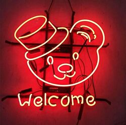 New Welcome Bears Toy Neon Sign 20x16 Light Lamp Store Wall Collection St378