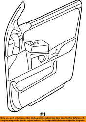 Ford Oem 05-06 Expedition Front Door-interior Trim Panel Left 5l1z7823943aaa