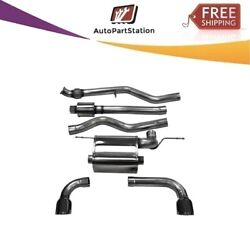 14938blk Corsa 304 Ss Cat-back Exhaust System Split Rear For Bmw 3-series 12-18