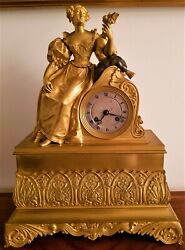Antique French Ormolu Figural Mantel Clock.