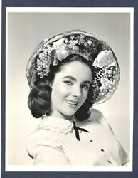 Beautiful Elizabeth Taylor At 16 - Very Good Cond 1948 Photo - Great Portrait
