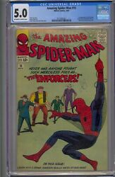 Amazing Spider-man 10 Cgc 5.0 1st App Big Man And The Enforcers