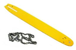 18 Chainsaw Guide Bar And Chain 3/8 Lp .050 Gauge 62 Dl Drive Links