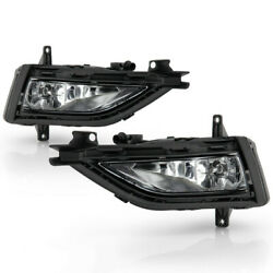[factory Style Replacement] For 18-20 Vw Golf Fog Light Bumper Lamp Set W/switch