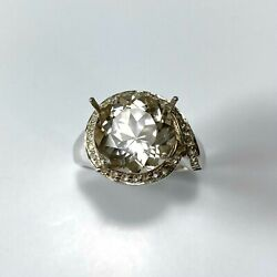 6.5cts Natural Imperial Champagne 925 Silver /9ct 14k 18k Gold Platinum Ring