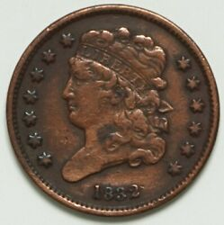 1832 Classic Head Half Cent Vf-cleaned