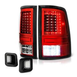 09-18 Dodge Ram 2500 3500 Red C-shape Led Tail Lamp Clear License Plate Light
