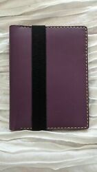 Galen Leather A5 Purple Notebook Cover Hobonichi Cousin Notebook Cover $45.00
