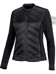 Harley-davidson Womens Quilted Bands Logo Stretch Black Casual Jacket 99264-19vw