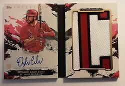 Topps Inception 2021 Rookie Dylan Carlson Cardinals Auto Nameplate Booklet /2 🔥