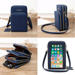Touch Screen Cell Phone Purse Crossbody Leather Wallet Pouch Shoulder Bags Women $17.69