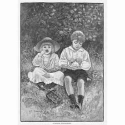 H.c Seppings Wright A Pair Of Nut Crackers - Antique Print 1891