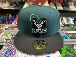 New Era Nba Fitted Cap Cleveland Cavaliers Size 7 7/8 Authentic Rare Vintage Vtg