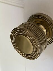 Sherle Wagner P E Guerin Gold Plate Doorknobs Vintage Concentric Circles