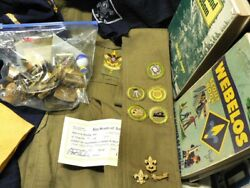Vintage 1940and039s-1970and039s Boy And Cub Scouts Items.shirtspinsribbonsbadges.boyscout