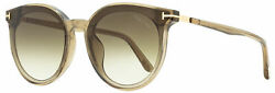 Tom Ford Oval Sunglasses Tf807k 45b Transparent Brown/gold 63mm Ft0807