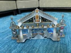 """Isart Pewter And Glass Menorah Made By """"ety"""""""