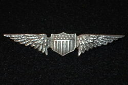 Wwi / 1920's Us Army Air Service Aviator Badge Wings Sterling Pin-back Orig.