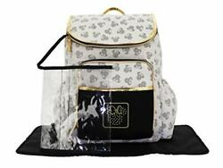 Cudlie Disney Minnie Mouse Backpack Diaper Bag Gold Metallic Toss Head Includ... $59.82