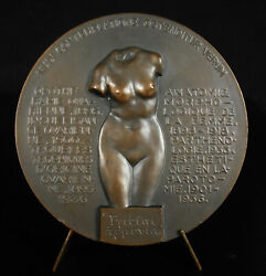 Medal 1936 Doc F Jay Anatomy De La Ladies Naked Gynecology Nude Female 3 3/16in