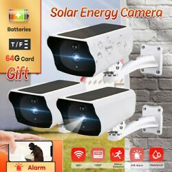 Hd Outdoor1080p Solar Powered Security Energy Camera Wireless Wifi Ip Home Cctv