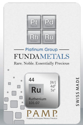 Pamp Suisse Very Rare 1/2 Oz Ruthenium Bar In Assay. Mintage Of 500