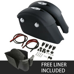 Matte Black Saddlebags Electronic Latch And Liner Fit For Indian Springfield 16-18