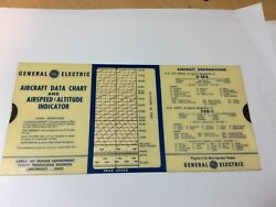 Used General Electric Usaf Usn Aircraft Data And Performance Slide Rule 1961