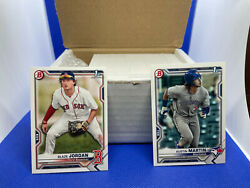 2021 Bowman Baseball Paper Base And Prospects Complete Set 250 Cards