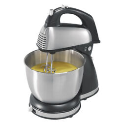 Hamilton Beach 6 Speed Classic Stand/hand Mixer Brushed Stainless Steel 64651