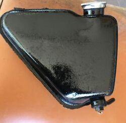 1970 Triumph Tr25 250 Trophy Oil Tank With Tabs To Mount Body And Cap Dipstick