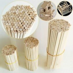 50 Pcs Round Wooden Stick For Crafts Food Ice Lollies Model Useful Home Diy