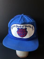 Union Brand Seed Of Burley Rare Vintage Hat Trucker Cap 1970s Farming Tractor